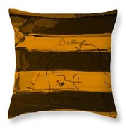 The Max Face In Orange Throw Pillow
