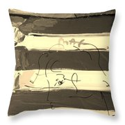 The Max Face In Sepia Throw Pillow