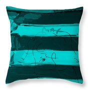 The Max Face In Turquois Throw Pillow