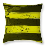 The Max Face In Yellow Throw Pillow