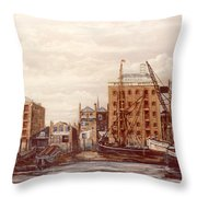 The Mayfloer Pub Rotherhithe London Throw Pillow