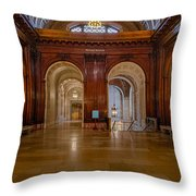 The Mcgraw Rotunda At The New York Public Library Throw Pillow