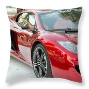 The Mclaren Apple Red Collection  Throw Pillow