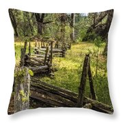 The Meadow Fence Throw Pillow