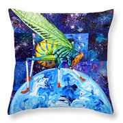 The Meek Shall Inherit The Parallel Universes Throw Pillow