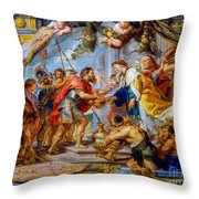 The Meeting Of Abraham And Melchizedek Throw Pillow