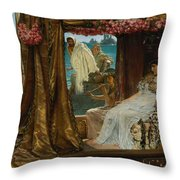 The Meeting Of Antony And Cleopatra  41 Bc Throw Pillow