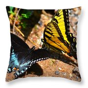 The Meeting Of The Butterflies Throw Pillow