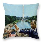 The Memorial Speech Throw Pillow by Colin Bootman