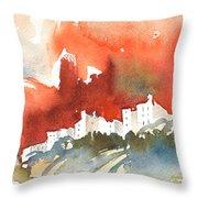The Menerbes Where Nicolas De Stael Lived Throw Pillow
