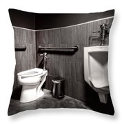 The Mens Room Throw Pillow by Bob Orsillo