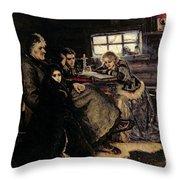 The Menshikov Family In Beriozovo, 1883 Oil On Canvas Throw Pillow