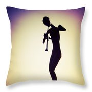 The Mermaid Angel Throw Pillow