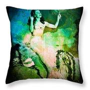 The Mermaid Mirror Throw Pillow