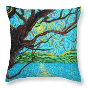 The Mermaid Tree Throw Pillow