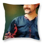 The Merry Rustic Throw Pillow