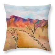 The Mesquite Trail Arizona Throw Pillow