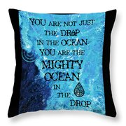 The Mighty Celtic Ocean Throw Pillow