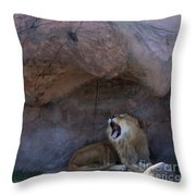 The Mighty King Roars Throw Pillow