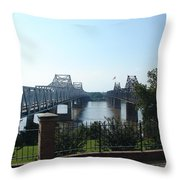 The Mighty Mississippi Throw Pillow