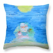 The Mighty Sphinx Throw Pillow