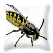 The Mighty Wasp Throw Pillow