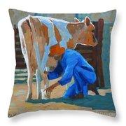 The Milkman Throw Pillow