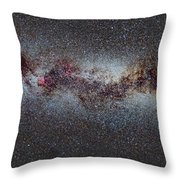 The Milky Way From Scorpio And Antares To Perseus Throw Pillow by Guido Montanes Castillo