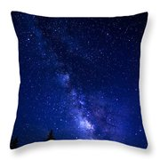The Milky Way Over Cranberry Wilderness Throw Pillow