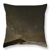the Milky Way Sagittarius and Antares over the Sierra Nevada National Park Throw Pillow