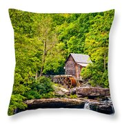 The  Mill At Babcock Throw Pillow