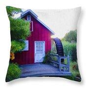The Mill At Kimberton Throw Pillow