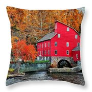 The Mill In Clinton Throw Pillow