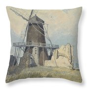 The Mill St Benet's Abbey Throw Pillow