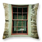 The Mill Window  Throw Pillow
