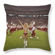 The Million Dollar Marching Band Of The University Of Alabama Throw Pillow