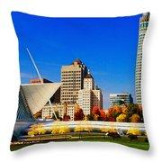 The Milwaukee Art Museum Throw Pillow