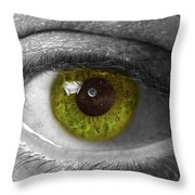 The Minds Eye Black And White Throw Pillow