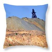 The Mine Throw Pillow