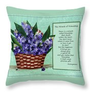 The Miracle Of Friendship Throw Pillow