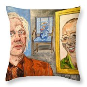 The Mirrored Truth Throw Pillow by Valerie Ornstein