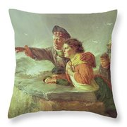 The Missing Boat, C.1876 Throw Pillow