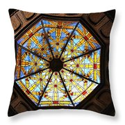 The Mission Inn Looking Up Throw Pillow