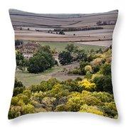 The Missouri River Valley Throw Pillow