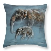 The Mist Throw Pillow