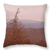 The Misty Mountains On A Misty Day Throw Pillow