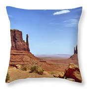 The Mittens Monument Valley Throw Pillow