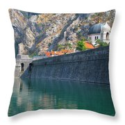 The Moat Of Kotor Throw Pillow