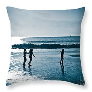 The Moment Of Sunset Throw Pillow