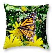 The Monarch Throw Pillow